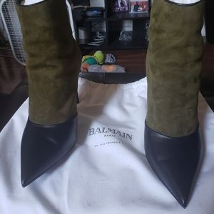 Leather and Suede ankle boot